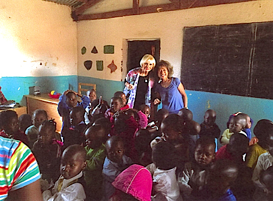 Carol Lloyd and Shari Yamamoto in Africa.