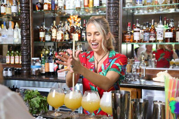 Mixing up lapu lapu cocktails at Royal Hawaiian. Photo by Jody Tiongco.