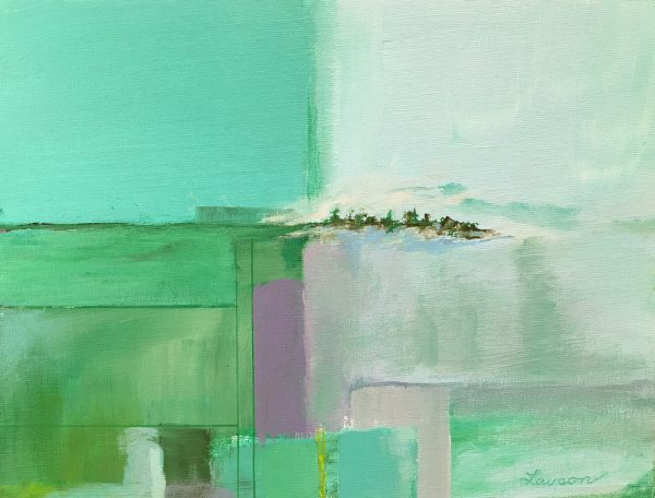 "Lawson channels Richard Diebenkorn in ""Blue Green Prime."""
