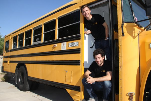 Tyler Russell and Jonathan Katz with their new mobile enterprise.