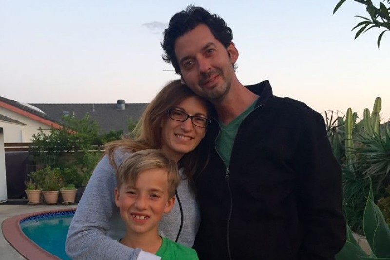 Roger Shew with wife Jamie and son Simon.