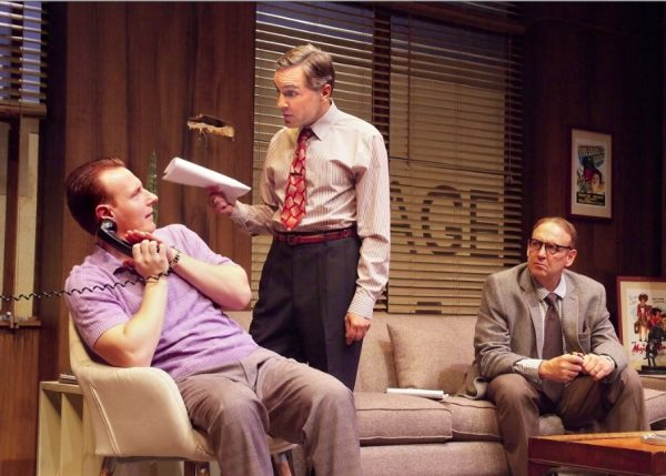 """Blake Ellis, Scott Lowell and Nick Searcy in """"Billy & Ray,"""" a play about the making of """"Double Indemnity,"""" at Laguna Playhouse through Oct. 30."""