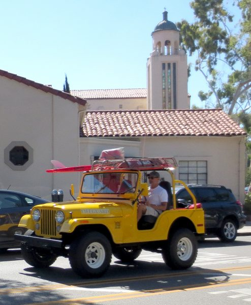 The restored lifeguard Jeep set to be donated to the city of Laguna Beach next week. Photo by Marilyn Young.