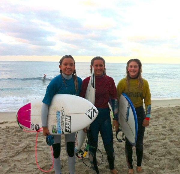 LBHS girls swept the shortboard contest.