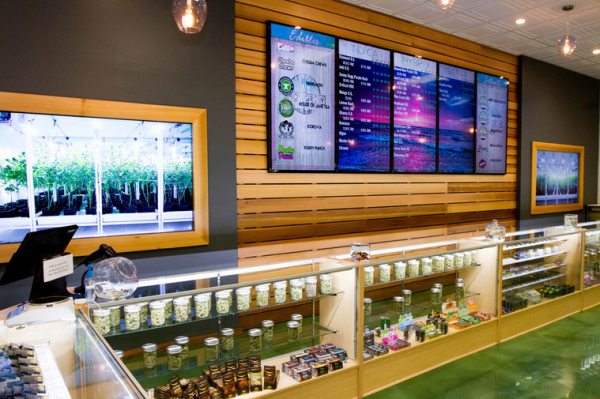 Inside the ShowGrow dispensary on Gertrude Place in Santa Ana.