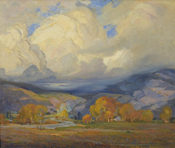 """After the Storm, Hemet,"" one of many painting locations in California that Anna Hills explored from her home base in Laguna Beach."