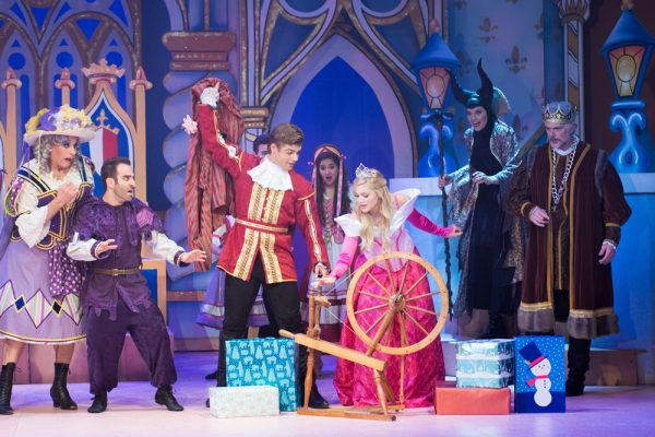A rollicking scene from a new Laguna Playhouse holiday production, which opens Friday, Dec. 9.