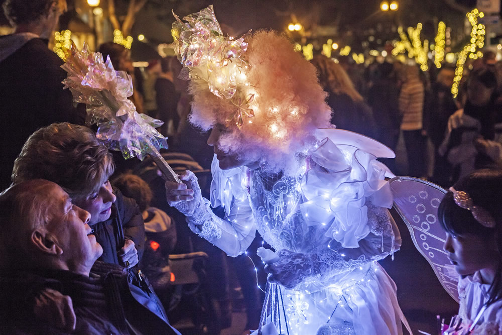 Wish faerie and local artist Jessica Destefano dispenses the magic of belief.