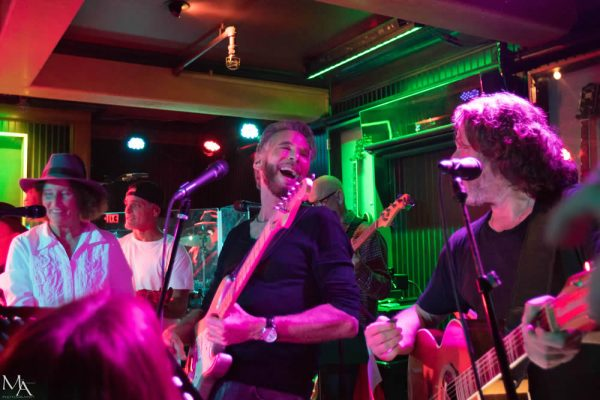 Kenny Loggins, center, performs with the 133 Band at Mozambique restaurant last month.