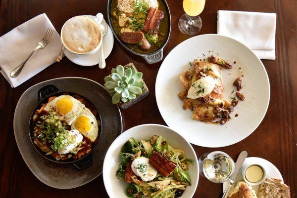 A range of egg-based dishes on The Loft brunch menu.