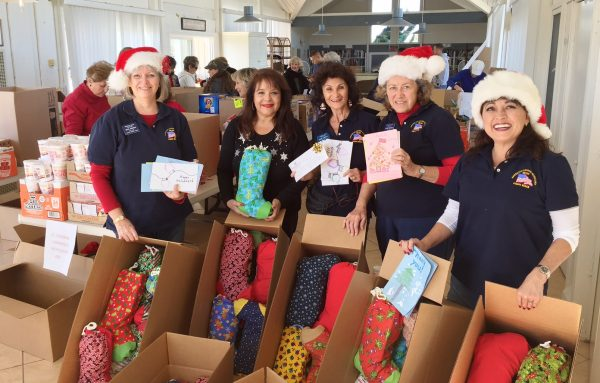 From left, Auxiliary elves Beth Johnsen, Cynthia Martinez, Diane Connell, Sandi Werthe and Lisa Larsen.