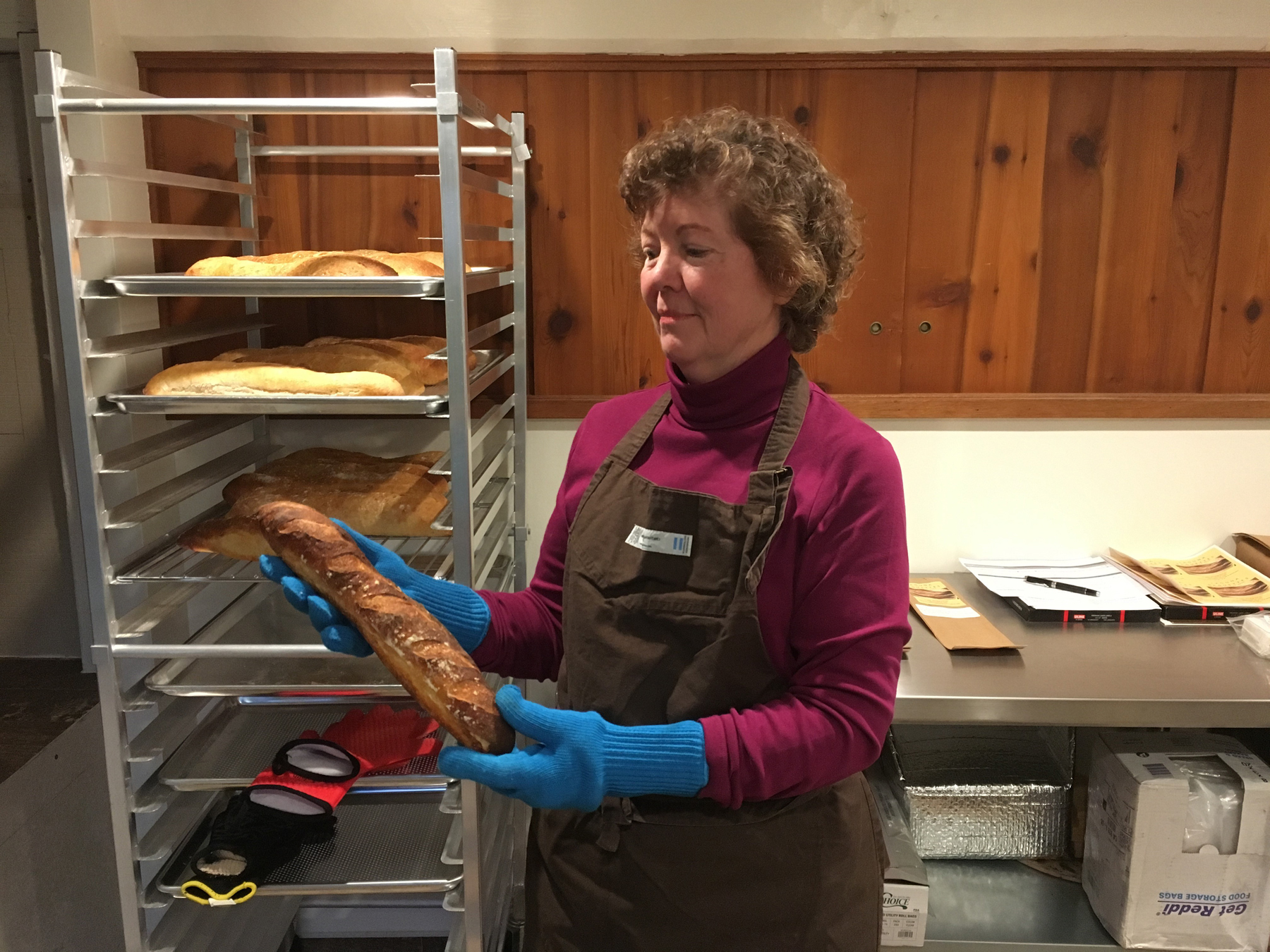 Baker Marilyn Wilson makes and sells baguettes.