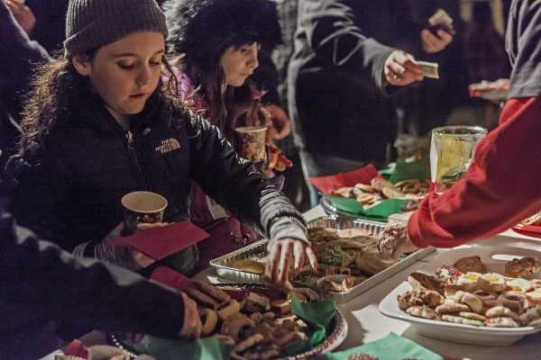 Scouts delivered trays full of mostly home-baked treats for visitors enjoying caroling, an art show, a tamale dinner and a crèche at Laguna Presbyterian Church.