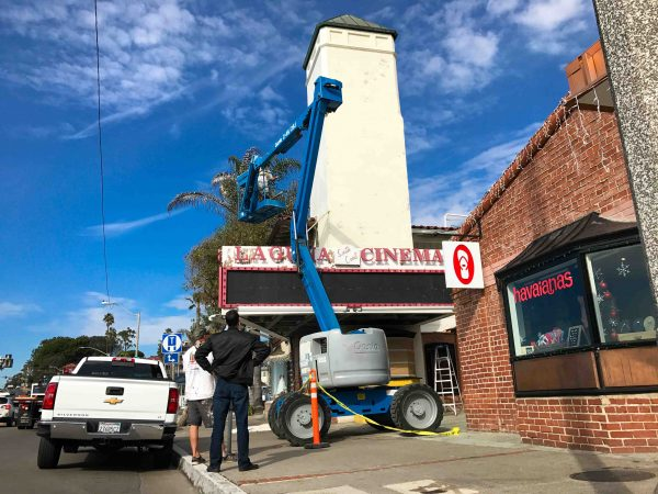South Coast Cinema is being transformed for its re-opening. Photos by Jody Tiongco.