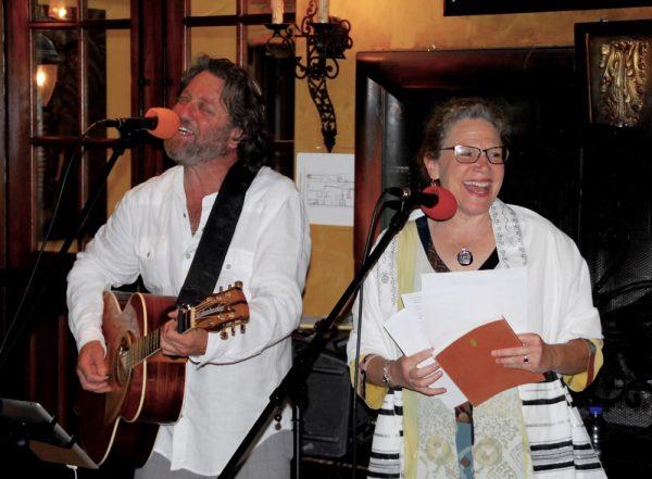 Jason Feddy and Rabbi Marcia Tilchin.