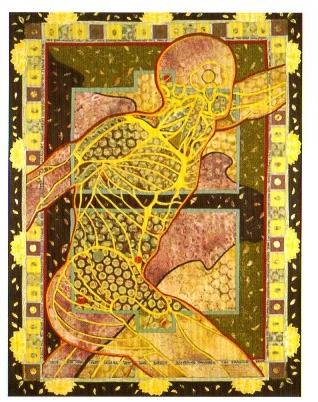 "Artist Sandra Samaha's ""Transcendence"" is part of the exhibit."