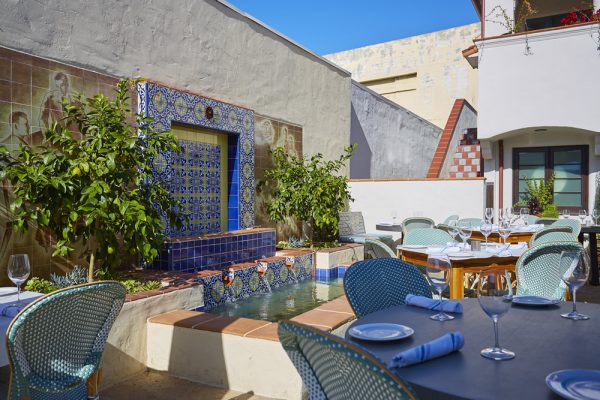 Taverna's patio