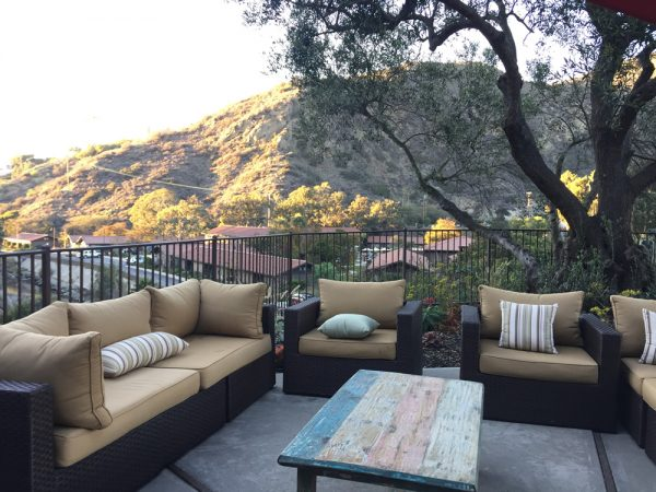 The former home of Vi Brown, remade as a bridal suite, now also allows guests to enjoy a special canyon overlook.