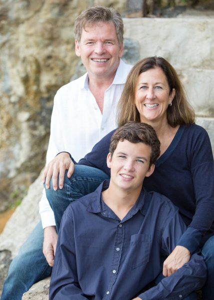 Carrie Reynolds, with her husband Michael and son Sam, is organizing a group from Laguna to attend a post-inauguration march in Washington, D.C.