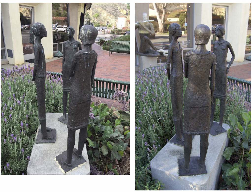 Jon Seeman's sculptures on Ocean Avenue attract unwanted admirers.
