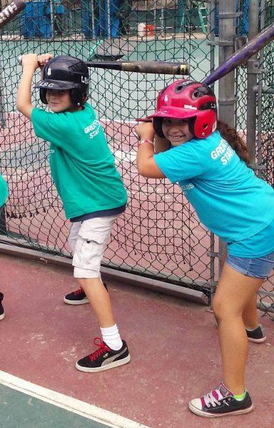 Club members ready to learn new baseball skills.