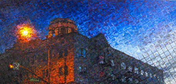 "Artist John Repka's ""Hotel Laguna"" can be seen at the Wells exhibit."