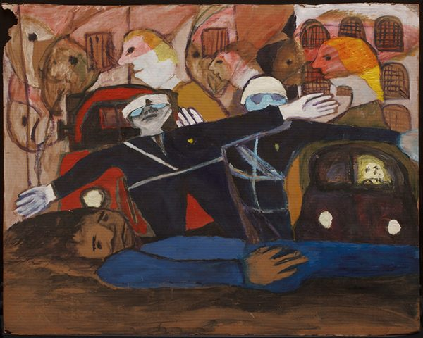 """One of the works included in """"Pioneer of Protest"""" at BC Space Gallery."""
