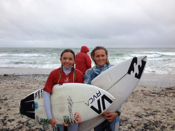 : Kalohe Danbara and Kayla Coscino, champions of the Cardiff-by-the-Sea contest.