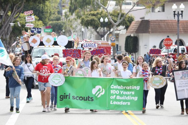The Girl Scouts' entry took first place in the service category.