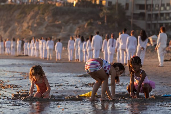 NEA funding underwrote the Laguna Art Museum Art & Nature festival in 2014, which included performance art on Main Beach.  Photo by Mitch Ridder.