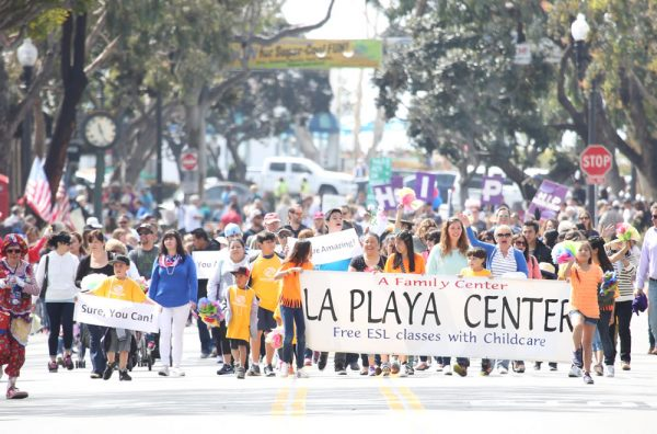 The La Playa Center marched in the parade last Saturday.