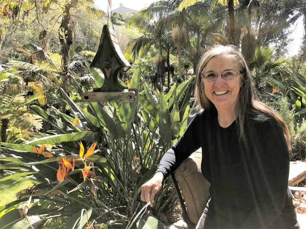 Over time, Joanie Rowe and her husband Ron transformed their yard into a tropical landscape, one of nine stops on the Laguna Beach Garden Club tour.