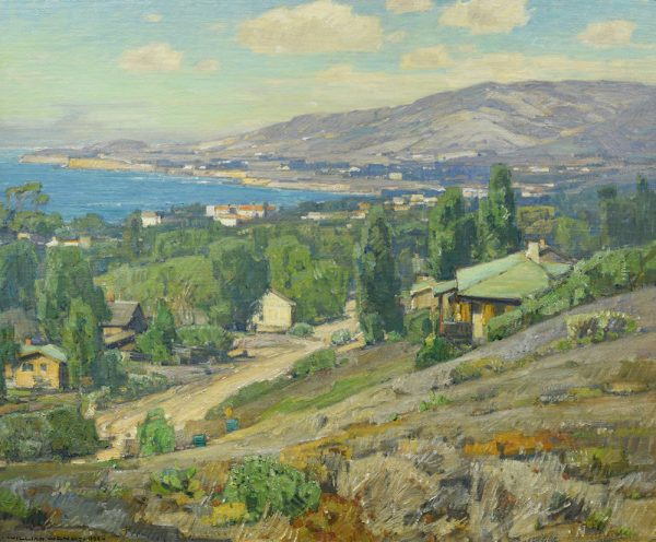 "William Wendt's ""Laguna Coast"" of 1930, a gift of Mr. and Mrs. Thomas B Stiles II, now part of the Laguna Art Museum's permanent collection."