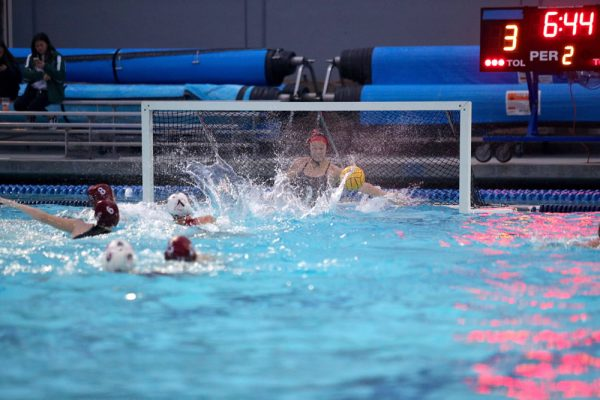 Goalie Thea Walsh blocks in the Breakers' CIF final in February. She joins teammate Aria Fischer on the USA women's water polo team next month.