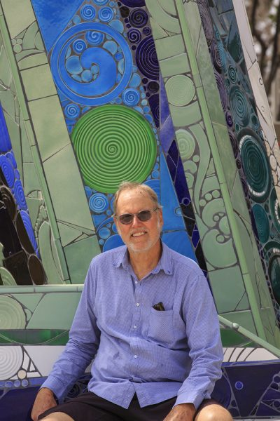 Artist Marlo Bartels' project in Brea earned him the artist of the year award from the Laguna Beach Arts Alliance. Photo by Tom Lamb courtesy of the LB Arts Alliance.