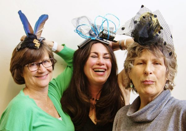 Hats off to, from left, Kirsten Whalen, Carla Meberg and Claudio Olsen, participants in LOCA's cabaret fundraiser.