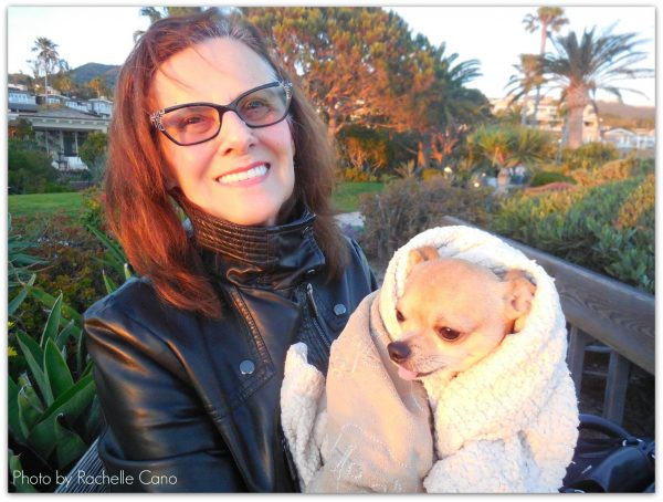 The author's mother Lorraine Cano and a beloved pet, Belinda.
