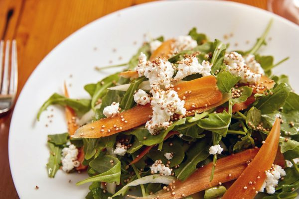 Sapphire's baby carrot and argula salad.