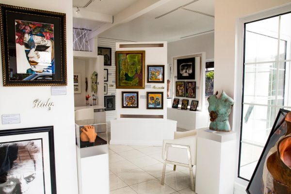 A sample of some works in the new gallery.