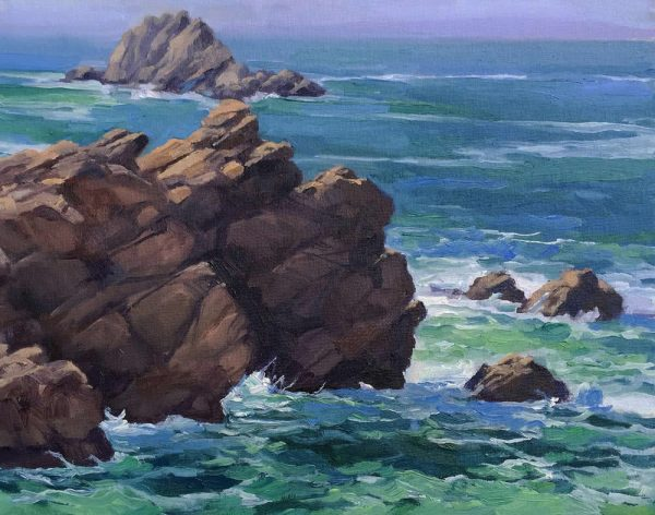 """Angry Sea"" is part of the LPAPA exhibit at Forest & Ocean Gallery."