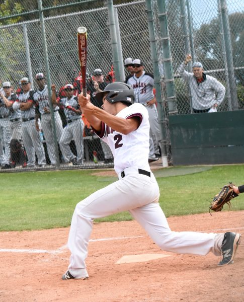 The Breakers Dustin Angus at bat in the contest won by Etiwanda last Friday, May 26.PHOto courtesy of LBHS Baseball.
