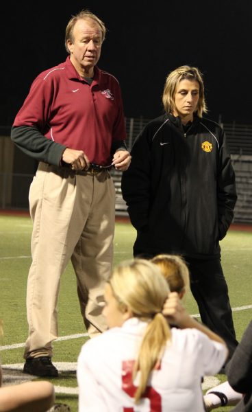 Coach Bill Rolfing on the sidelines in 2011.