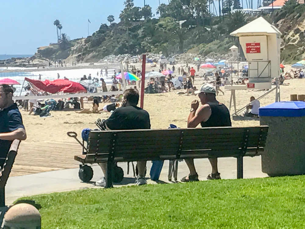 Smoking in public areas in Laguna Beach is now subject to fines. Photo by Jody Tiongco.