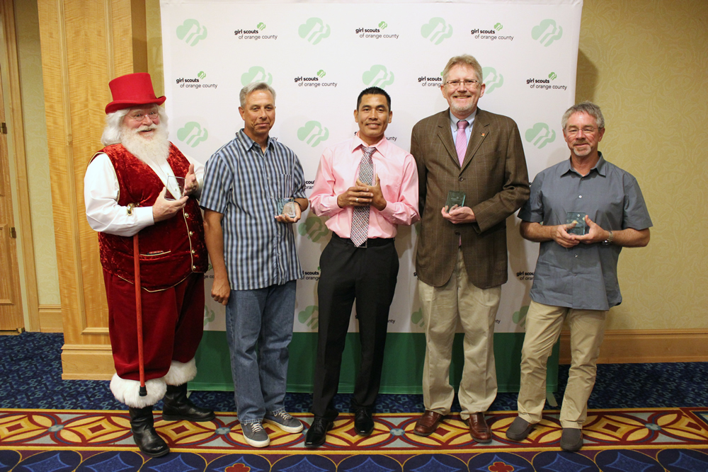 Good Guy Award recipients, from left, Lorrin Montag Sr., Andrew Knobloch, Cesar Carrasco, Doug Hill, and Steve Baker.