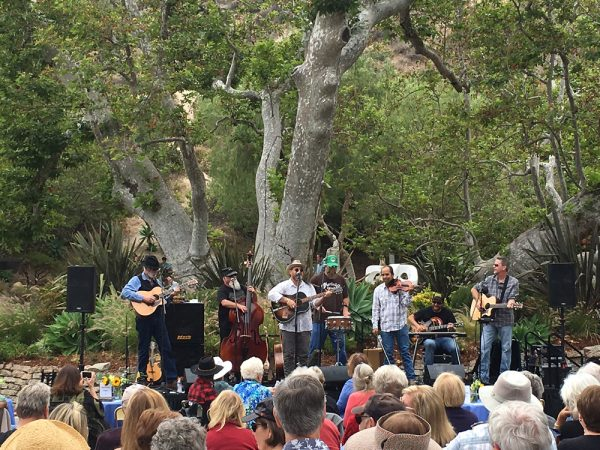 Last year's outdoor bluegrass concert in Laguna Canyon