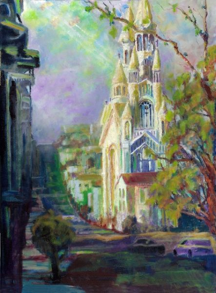 """Divine in San Francisco,"" by artist Roderick Reed, part of a summer-long exhibition of work from the Laguna Plein Air Painters Association in the CAP Gallery at Wells Fargo, second floor, 260 Ocean Ave. The public is welcome during the 11 a.m. to 1 p.m. reception Saturday, June 24."