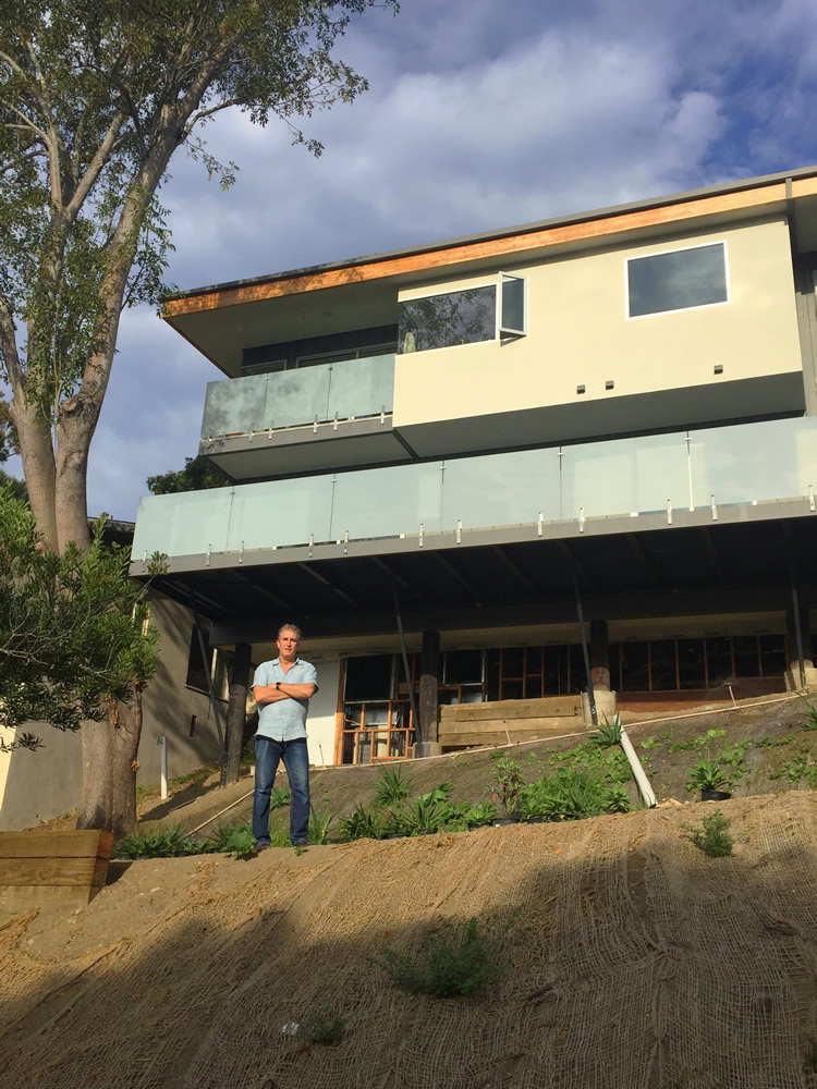 Court Shannon's aim to build a second unit at his Laguna Beach home is complicated by the city's slow response to complying with a new state law. Photo by Cassandra Reinhart.