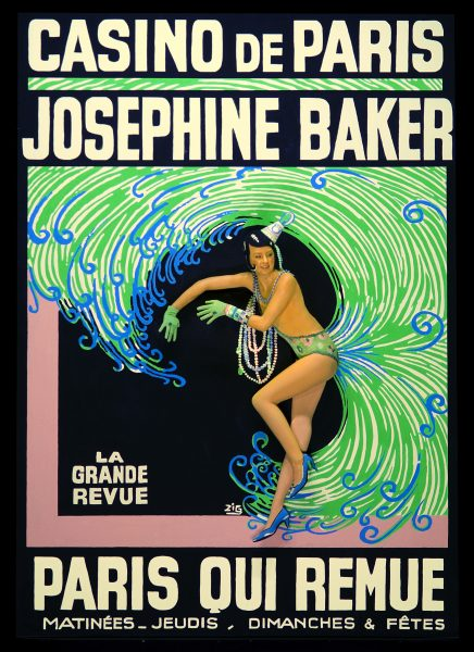 The promotional poster of Josephine Baker proved a highlight of the second act of the Pageant of the Masters.
