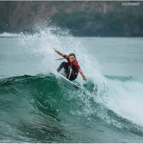 High school surfer Kayla Coscino joins the national surf team. Photo by Mark Golter.