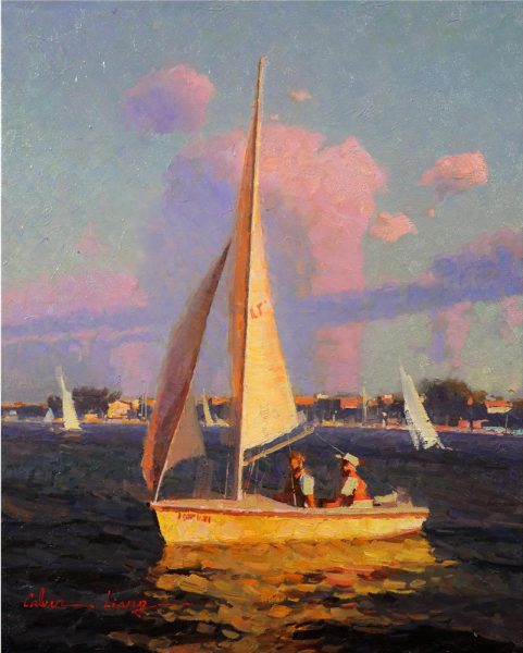 "Liang's ""Sailing in Newport Beach"" is an example from the CAP exhibit."